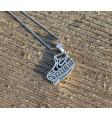Custom Silver 2d pendant plus chain 15g+15g