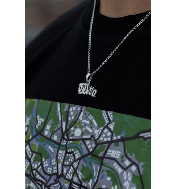 T-Shirt GTA 3-City- mapa biały