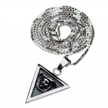 Silver Medusa chain
