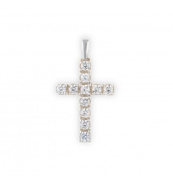 Krzyż z kamieniami srebro 0.925