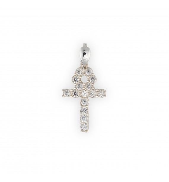 ICED SILVER 0.925 Ankh chain